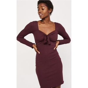 Abercrombie & Fitch tie front mini dress